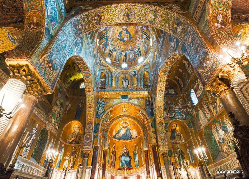 La magnifica cappella Palatina, nel Palazzo Reale di Palermo